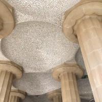 Pretty Tile and Columns at Park Guell