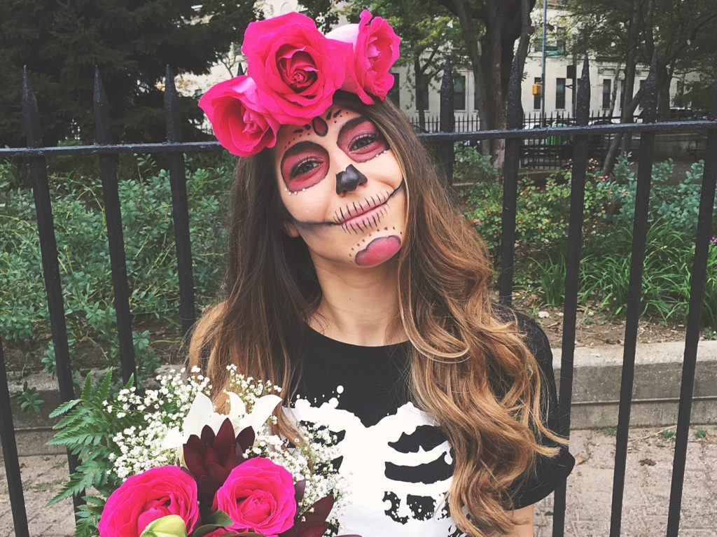 Easy Day of the Dead Halloween Look