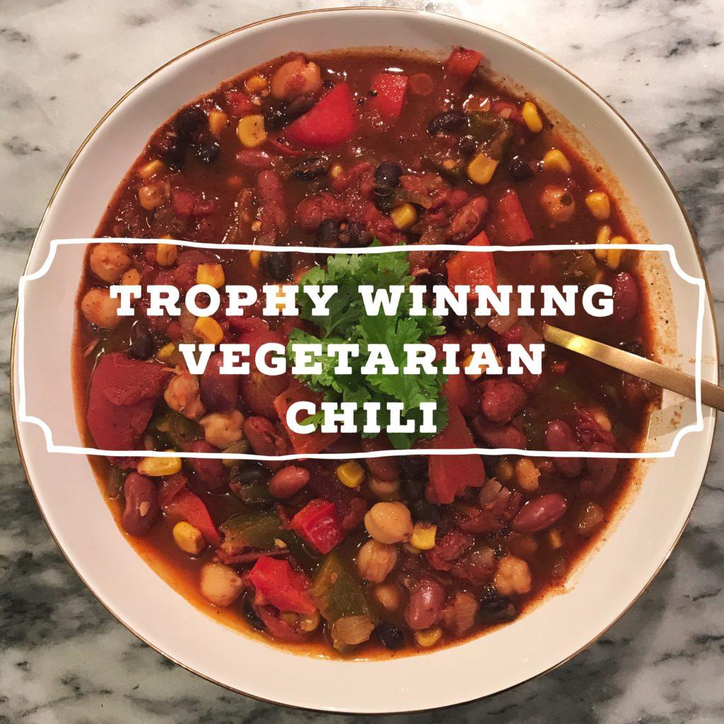trophy winning vegetarian chili