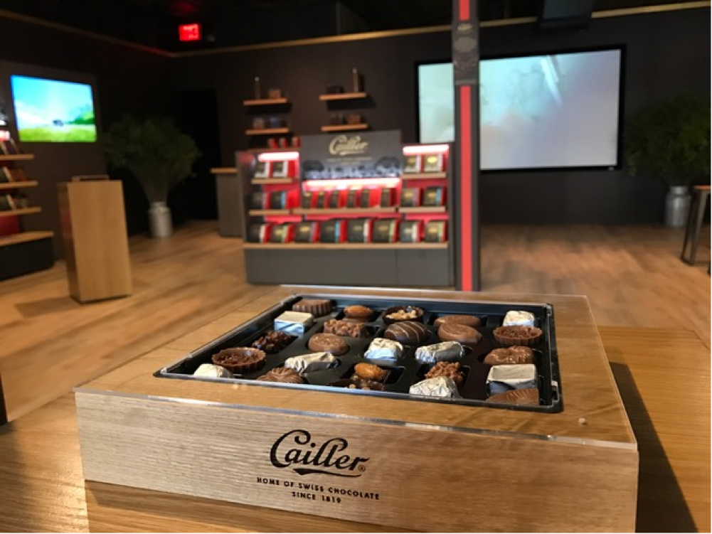 cailler chocolate pop-up shop