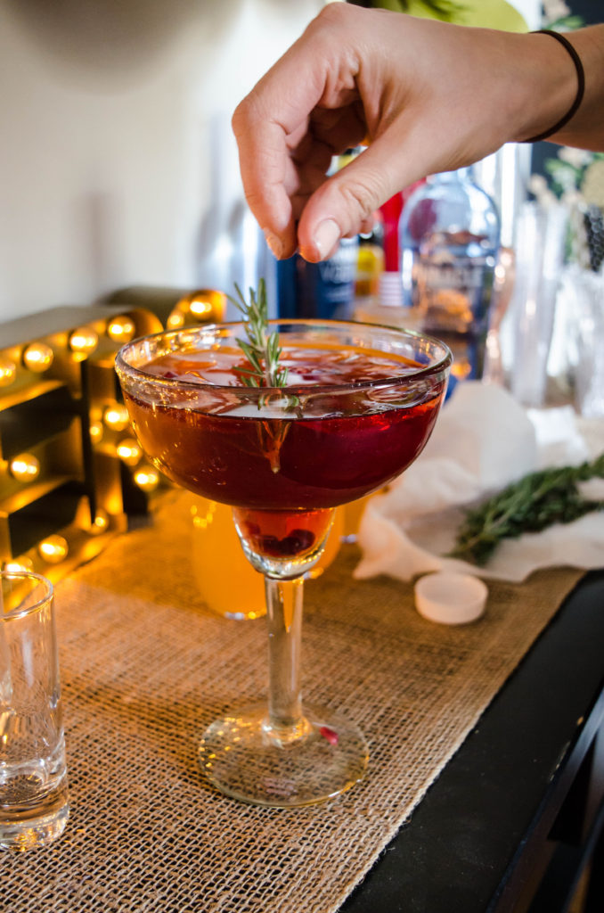 rosemary cranberry spritz