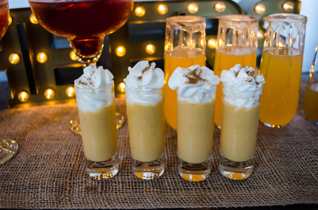 pumpkin pie shots - festive holiday cocktails