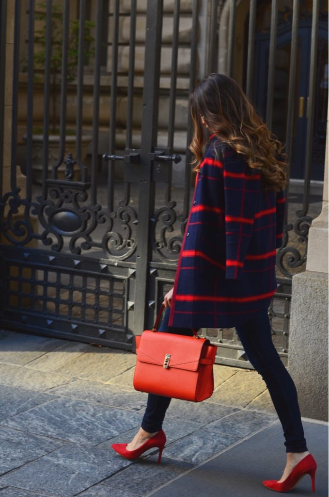 How to style Red and Navy