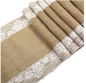 lace and burlap runner