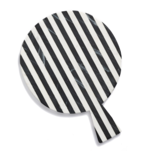striped marble platter