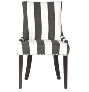 black and white stripe chairs