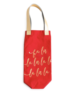 holiday wine tote