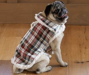 plaid dog vest