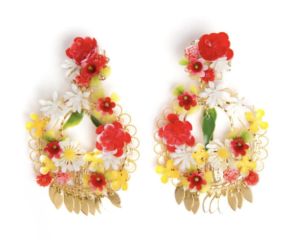 red fanny mora earrings