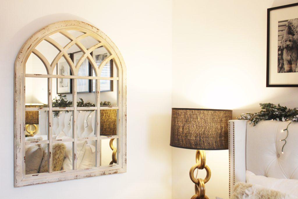 window mirror, home decor, interior design, neutral home decor, neutrals, nyc
