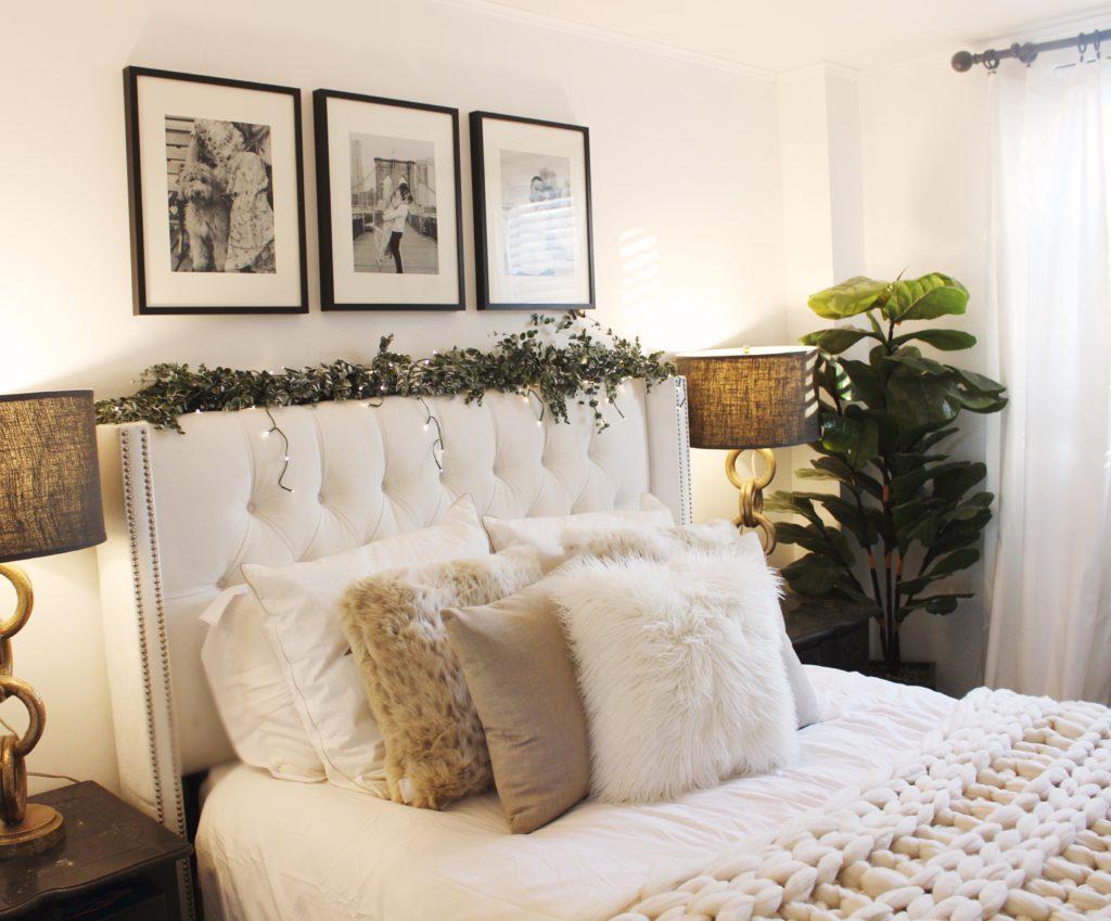 cozy nyc bedroom, bedroom reveal, cozy chic decor, home decor, neutral bedroom, neutral home decor