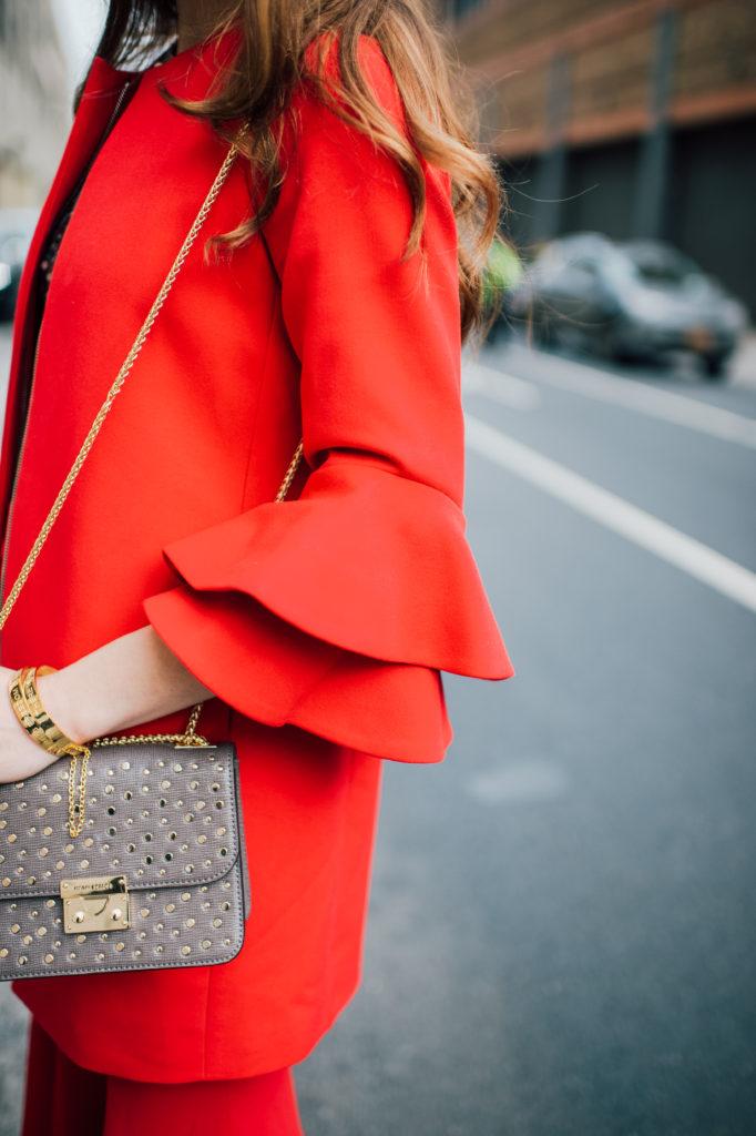 ruffle sleeve, henri bande, fashion, street style