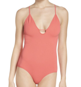 free people coral bodysuit