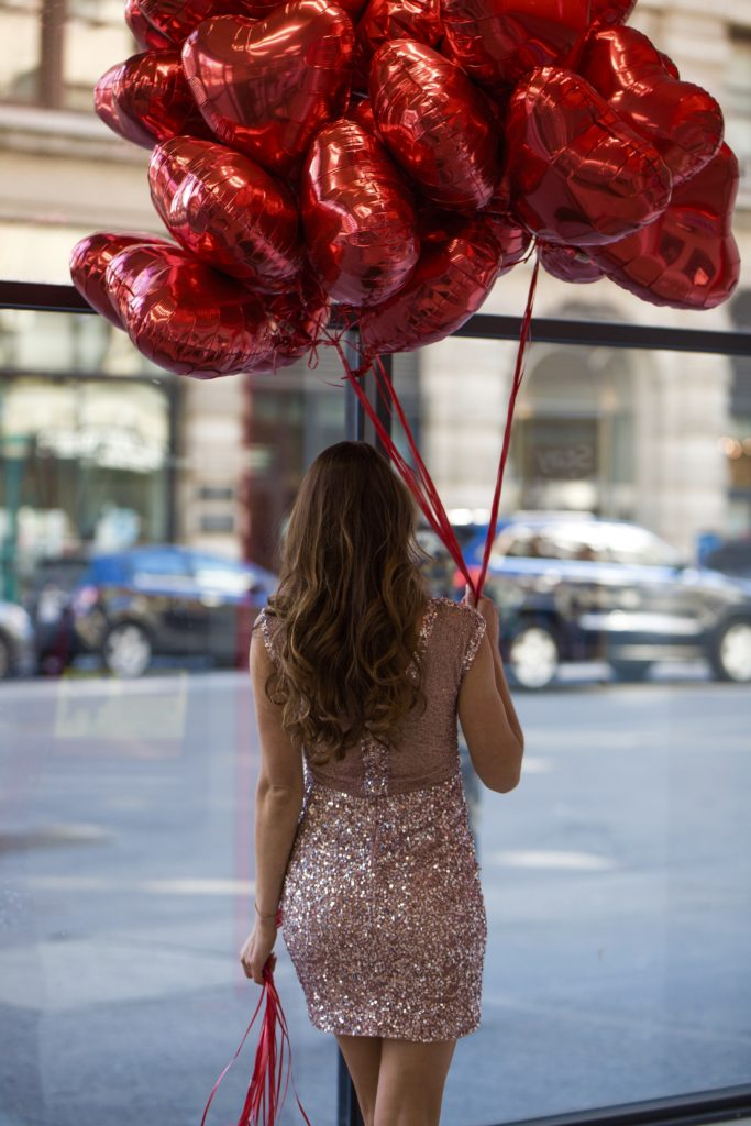 Valentines Day, heart balloons