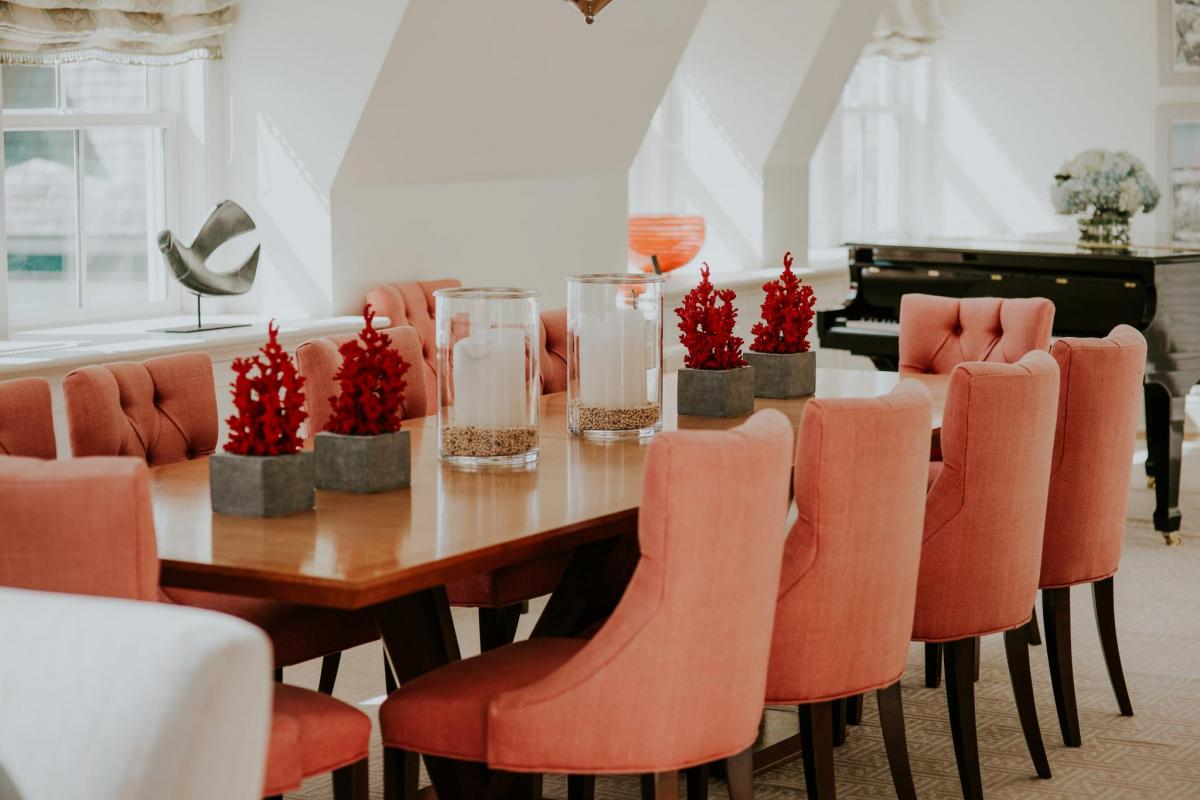 The Ocean House, Pink Dining Room Chairs, Home Decor