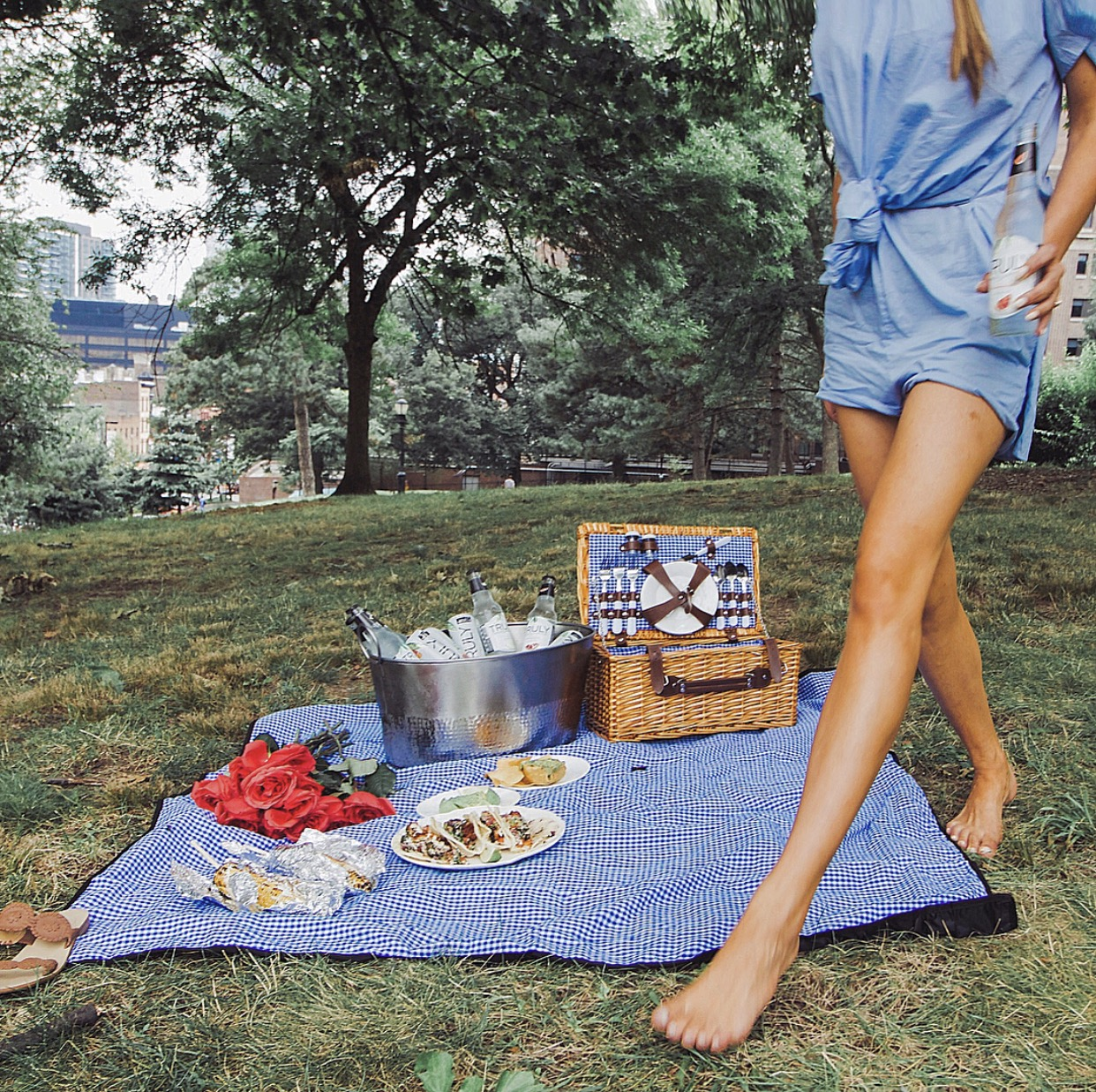 summer ideas, date ideas, summer love, picnic, gingham, picnic basket