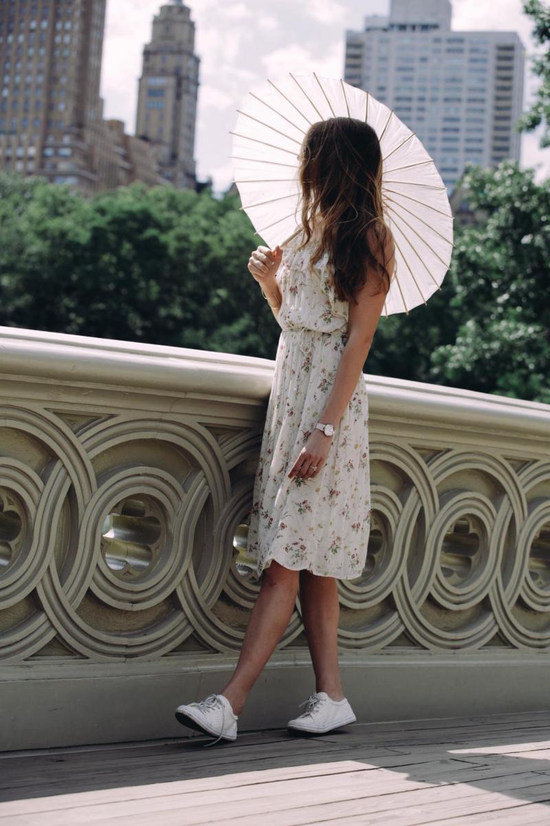 explore, adventure, New York city, wanderlust, Central Park, floral dress