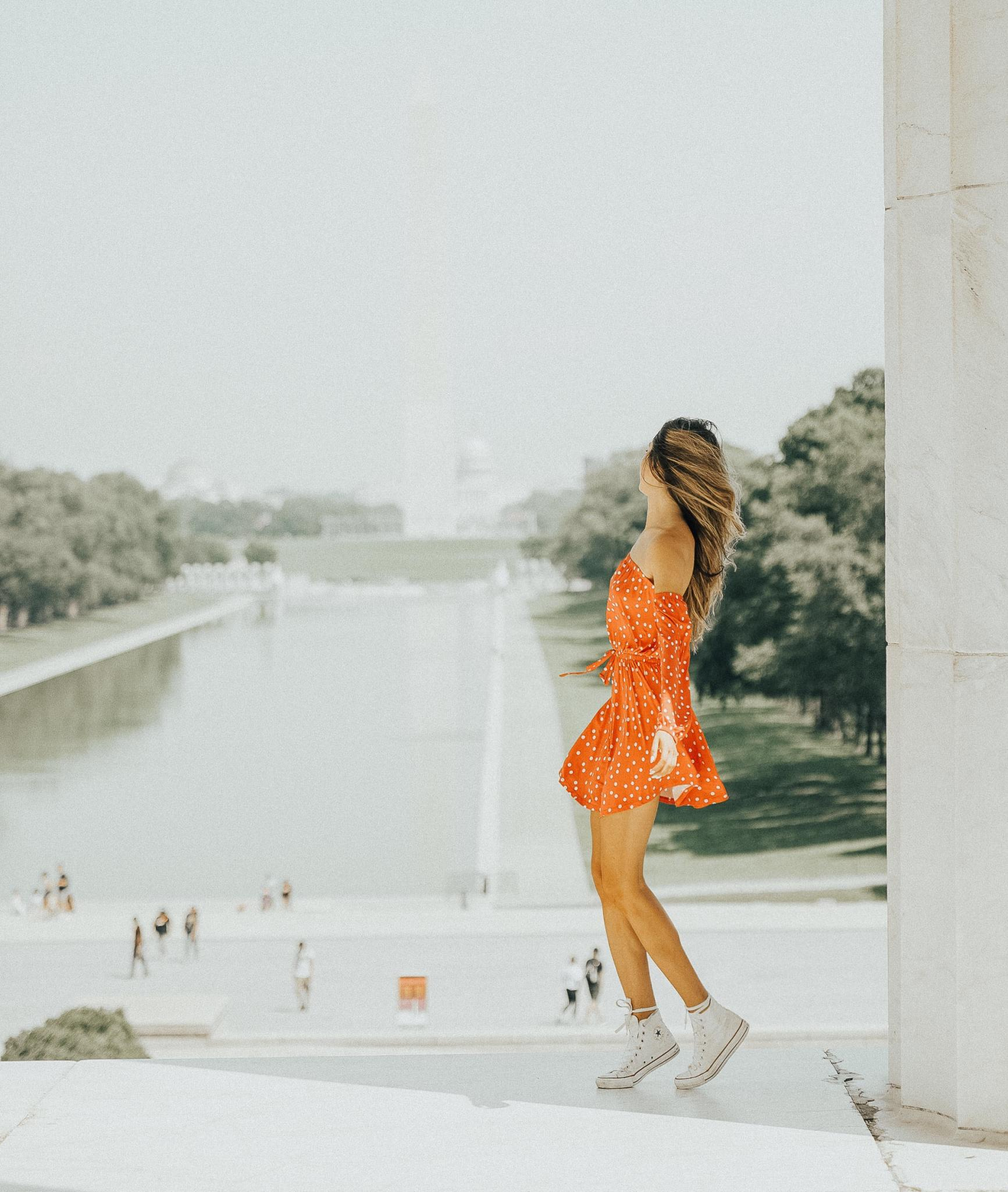 Fashion, Hotel, Travel, Traveler, Travel Blogger, polka dots, Washington d.c., vintage,