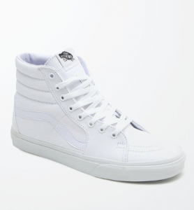 vans - white hi tops