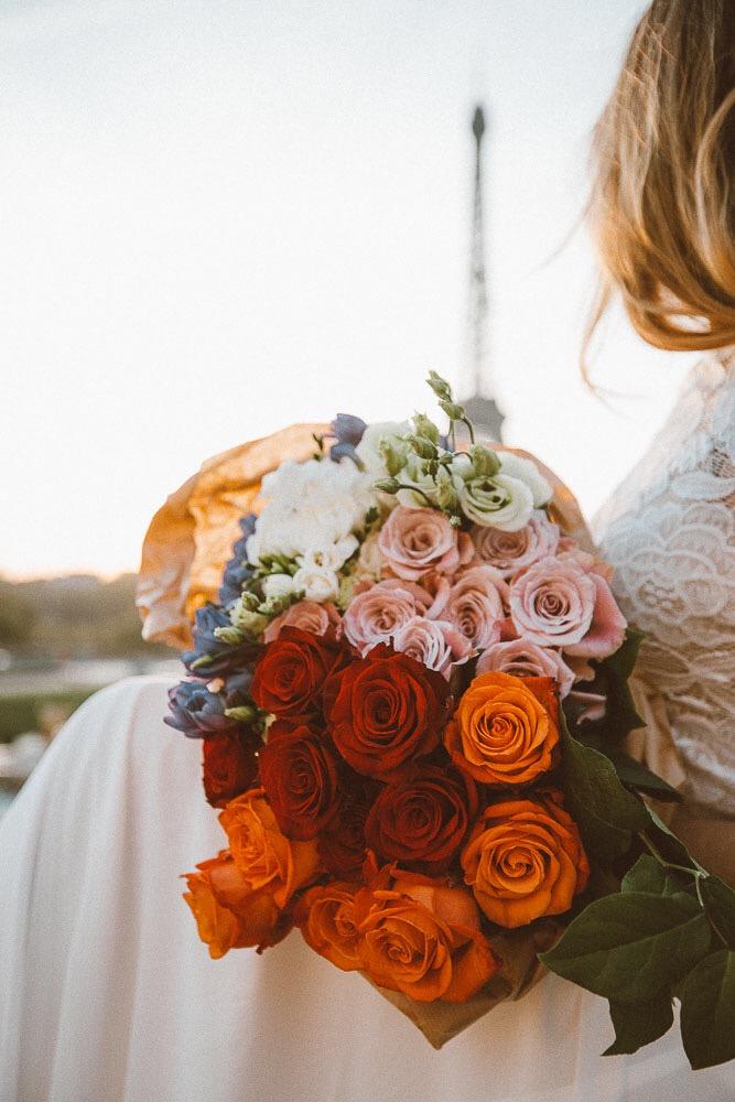 Parisian bride, BHLDN, wedding Inspo, Paris, roses