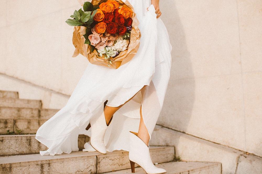 bridal booties, Chloe, BHLDN bride, boho bride