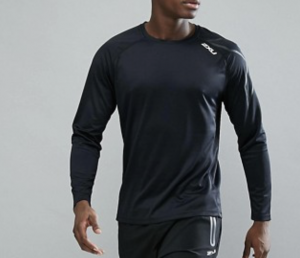 2XU Running Active Long Sleeve Top In Black